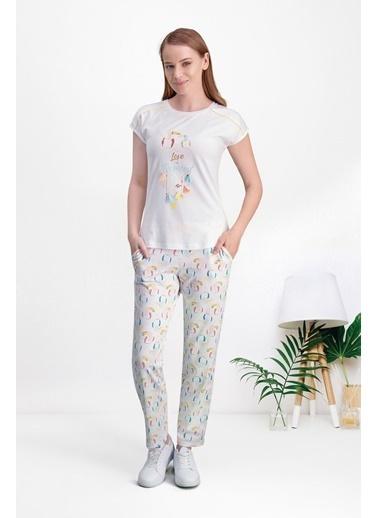 Pierre Cardin Pierre Cardin Sarı Kadın Pijama Takımı Krem